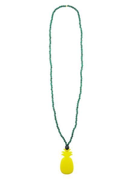 womens green yellow tropicana necklace katie bartels