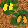Tropicana Earrings, yellow