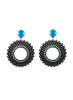 womens black clip-on vara earrings katie bartels