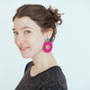 womens pink vara earrings katie bartels