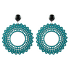 handmade womens teal wood earrings katie bartels