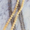 Stacking Necklaces, grey agate & yellow jade
