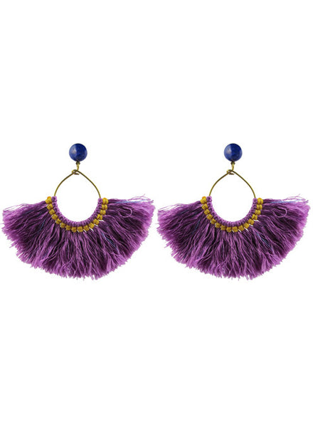 womens purple zuha earrings katie bartels