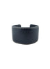leather cuff, navy