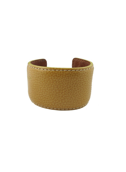 leather cuff, tan