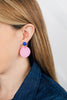handmade designer womens pink circle earrings katie bartels