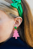 handmade womens pink tree earrings katie bartels