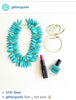 glitter guide turquoise necklace
