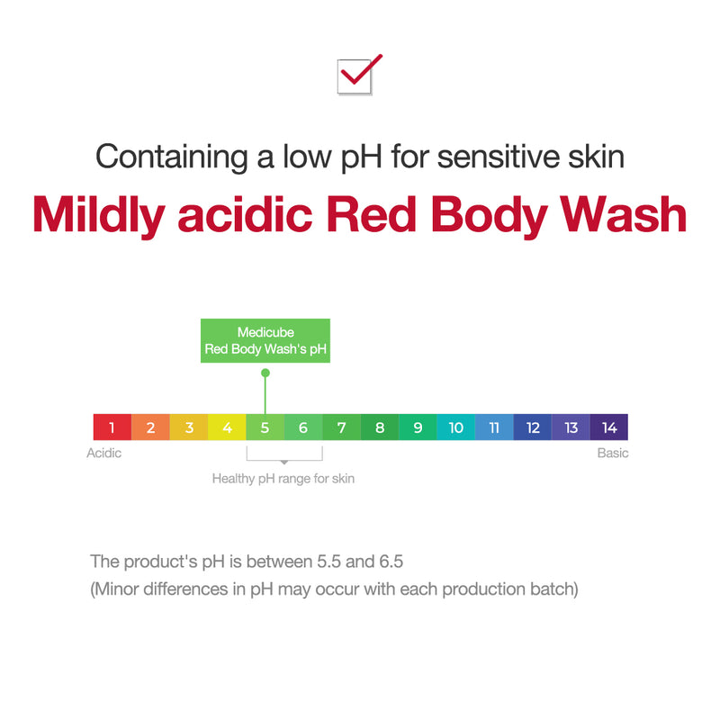Red Body Wash - MEDICUBE US