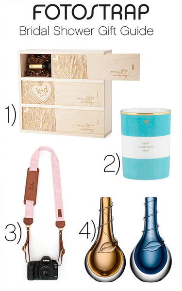 camera strap, gift guide, bridal shower