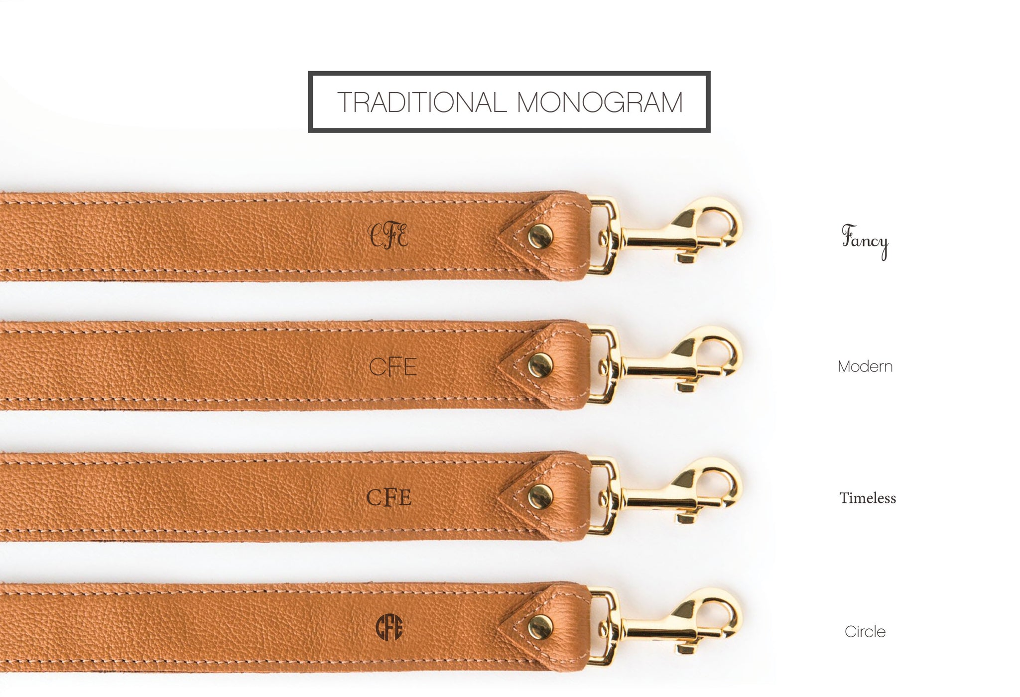 Designer Traditional Monogram Personalization Options