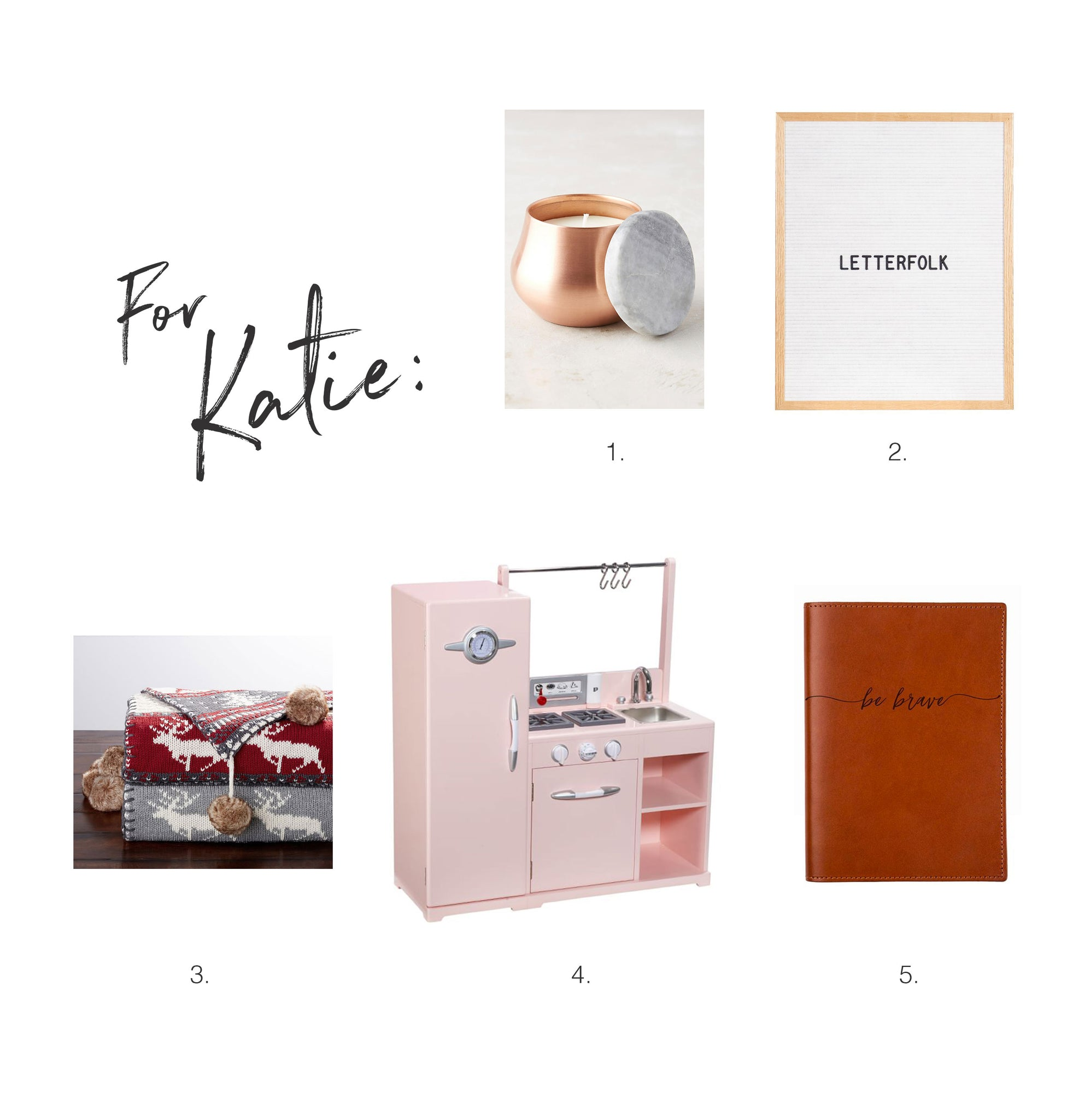 Christmas Wishlist for Katie