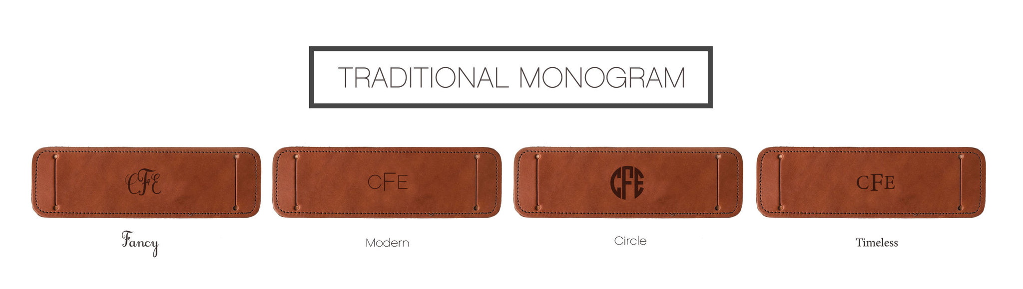 Fotostrap Monogram Personalization Options