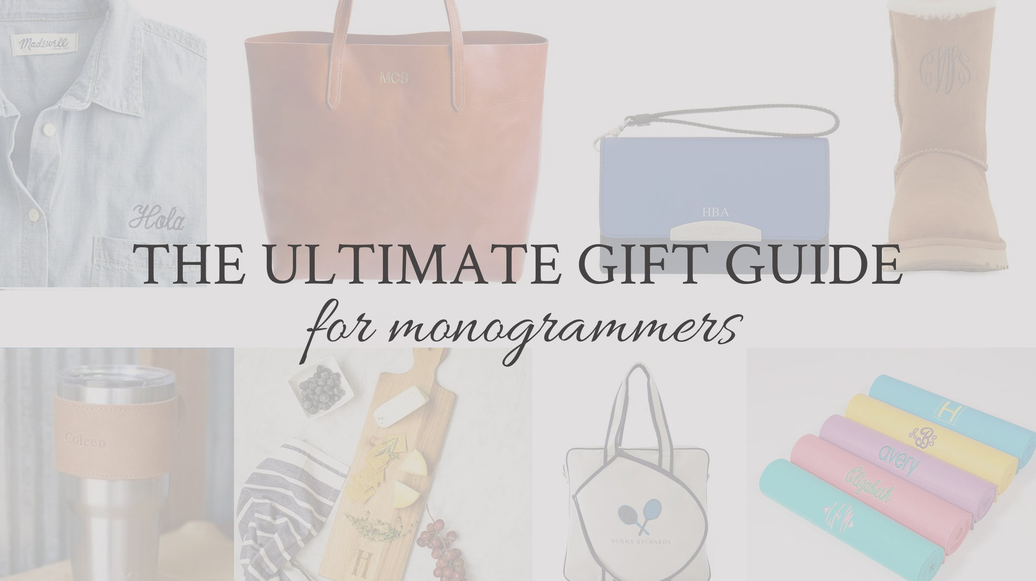Ultimate Gift Guide for Monogrammers | FOTO Blog