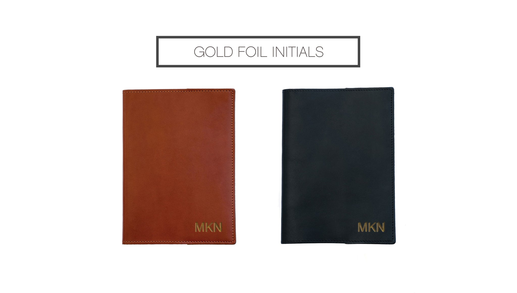 FOTO's genuine leather journal can be personalized with gold foil initials. Initials must be entered in the exact order you would like them to appear on the journal.