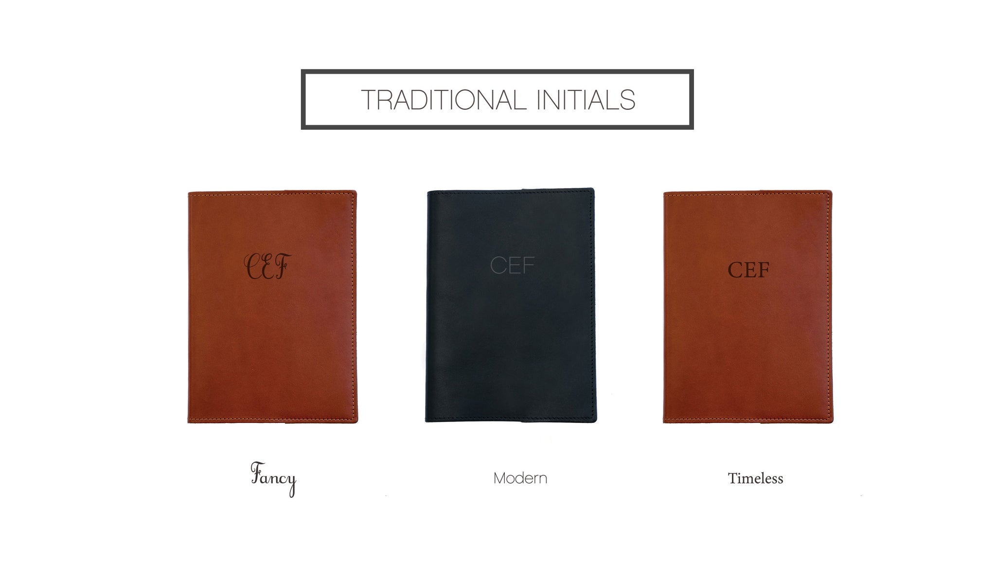 Journal Initials Personalization Options