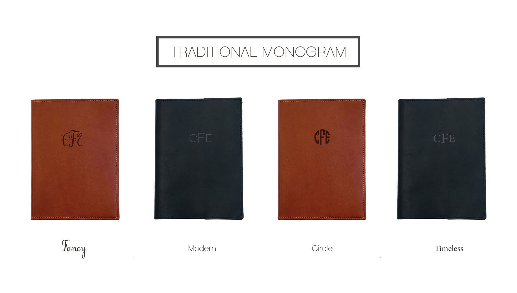 Journal Monogram Personalization Options