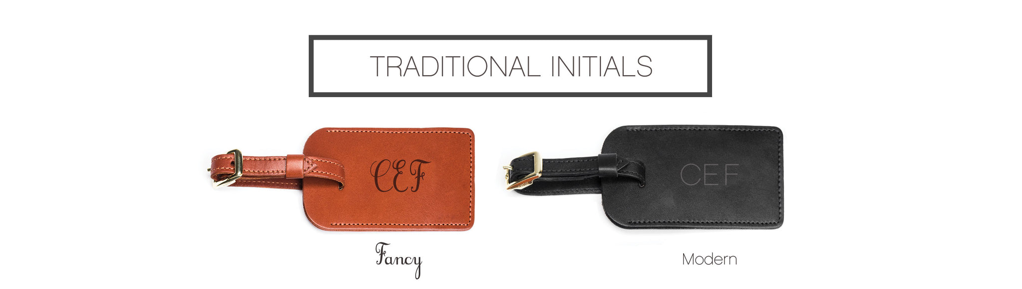 Traditional Initials - Luggage Tag