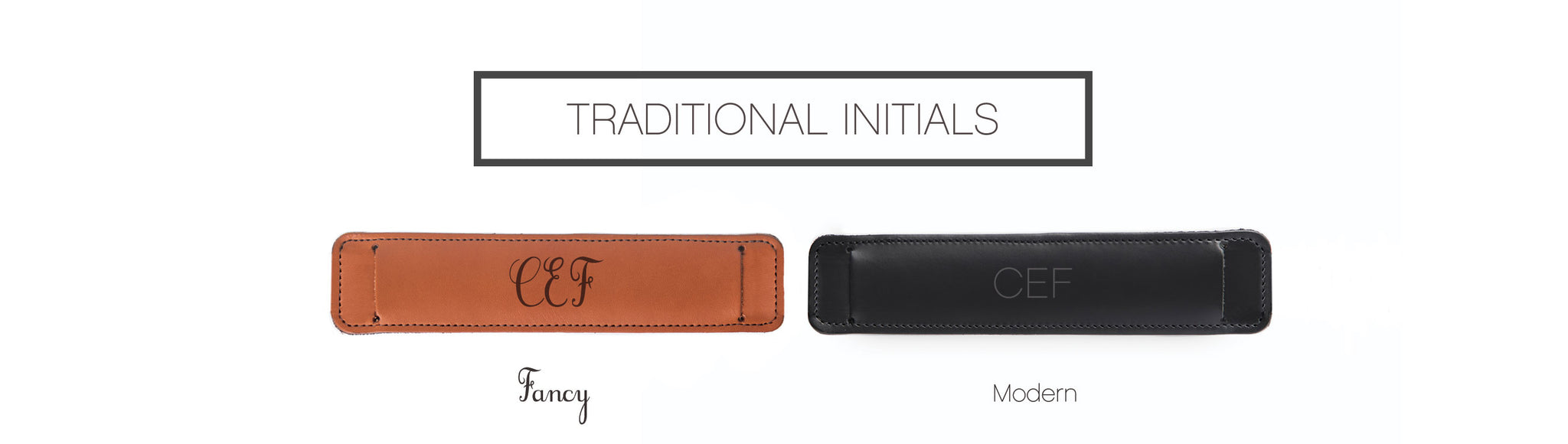 Skinny Traditional Initials Personalization Options
