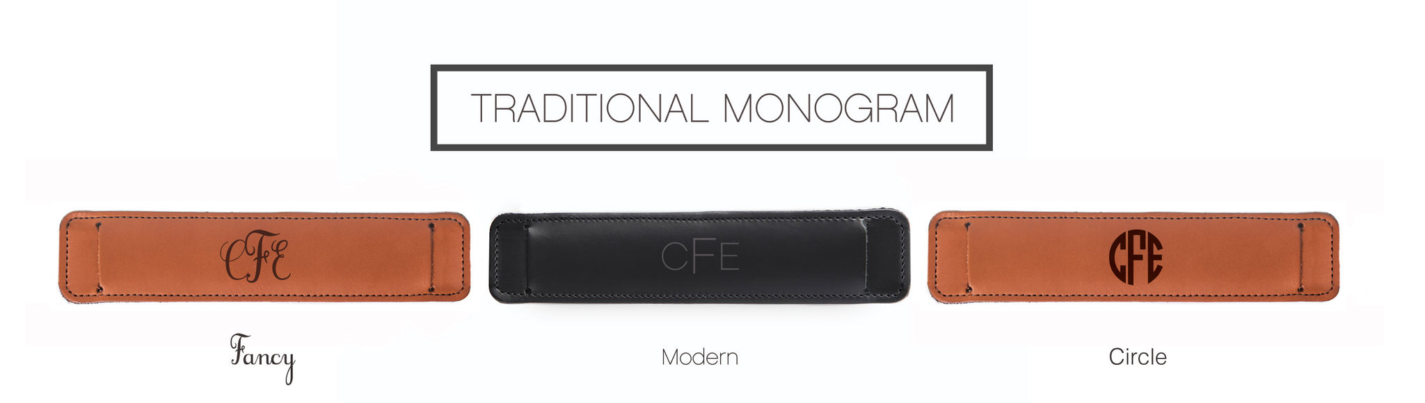 Traditional Monogram Personalization Options