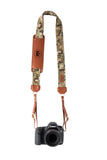 FOTO | Travis Fotostrap - a camo canvas and genuine leather camera strap that can be personalized with a monogram or business logo, making it the perfect personalized gift!
