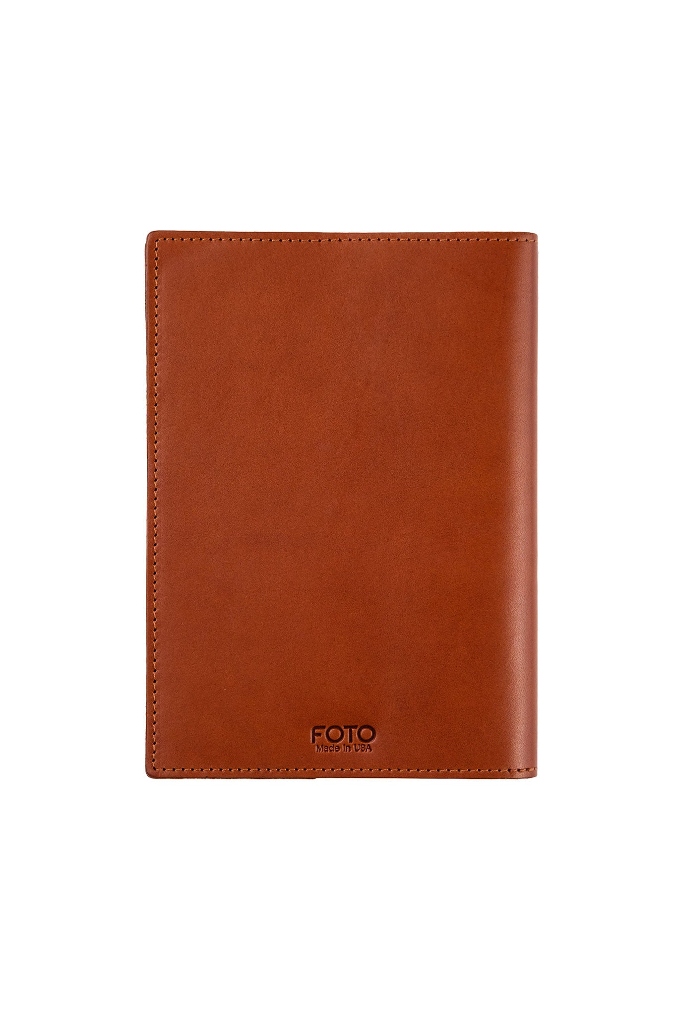 FOTO | Cognac Leather Journal for Photographers - refillable genuine leather journal cover can be personalized with gold foil initials, a monogram or business logo making it the perfect personalized gift.
