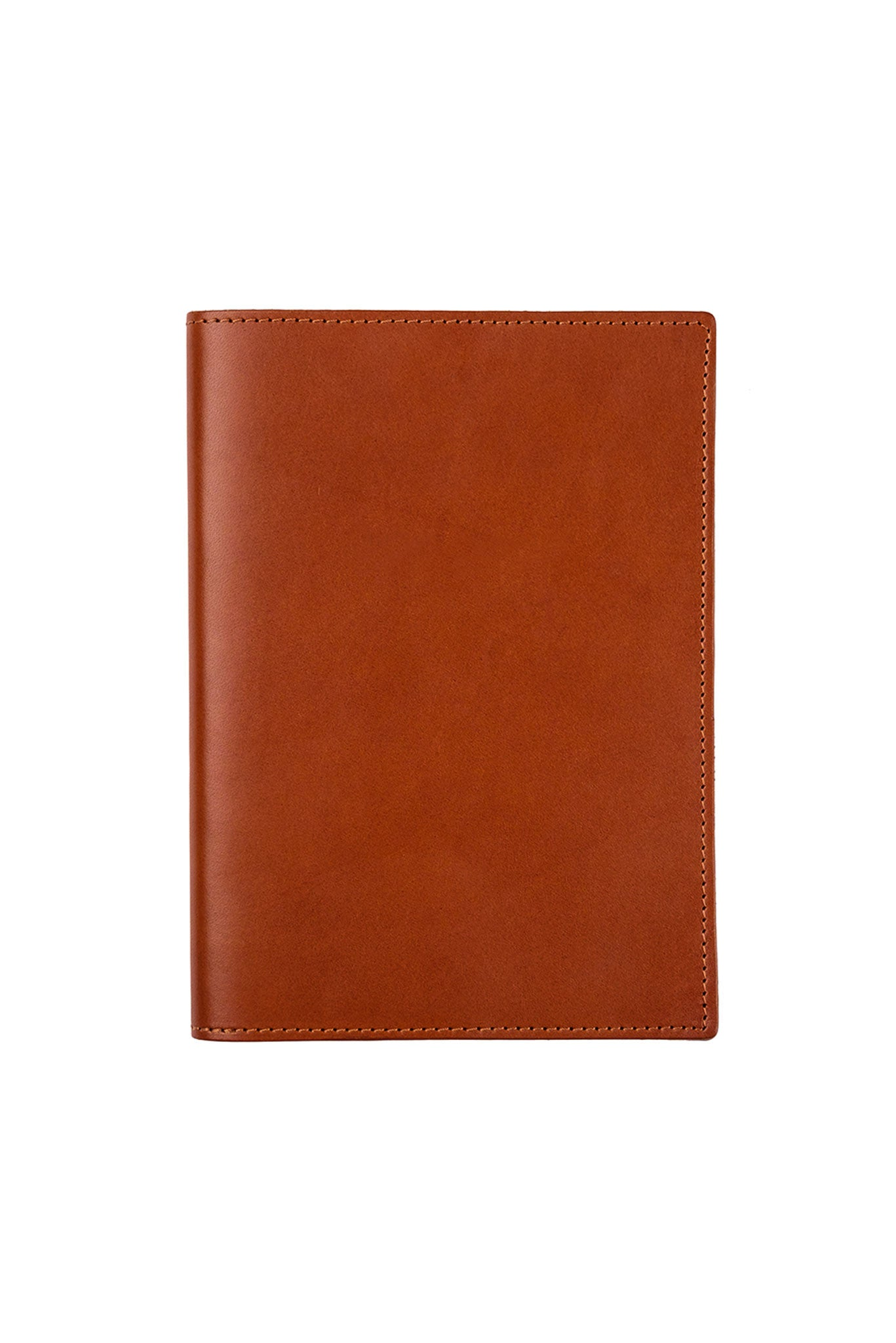 FOTO | Cognac Leather Journal for him - refillable genuine leather journal cover can be personalized with gold foil initials, a monogram or business logo making it the perfect personalized gift.
