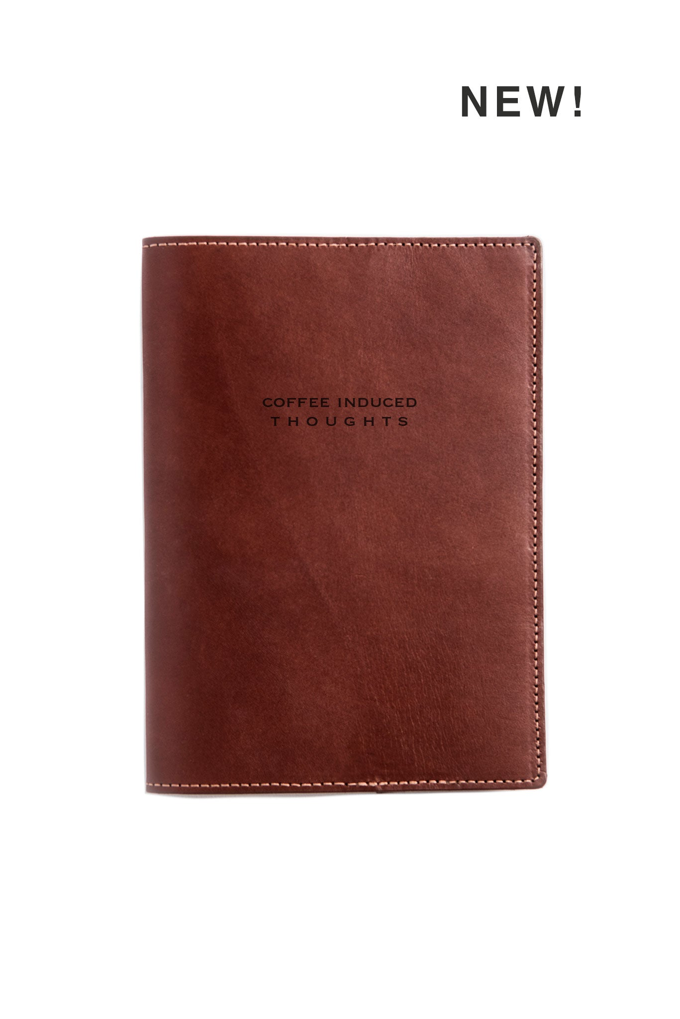 "FOTO | ""Coffee Induced Thoughts"" Refillable Leather Journal - the perfect gift for the coffee-addicted writer or coffee fan in your life."
