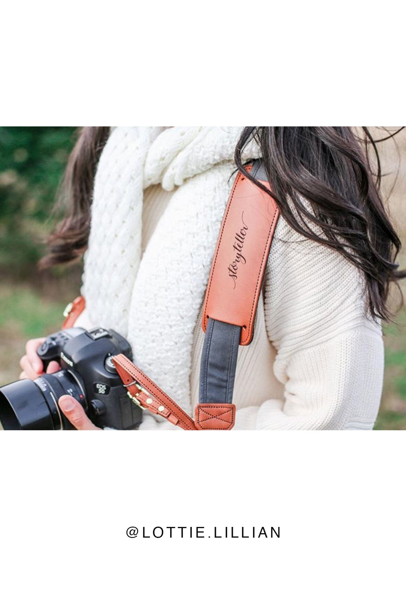 "FOTO | ""Storyteller"" Fotostrap - this genuine leather camera strap is available in a wide variety of colors, making it the perfect photographer gift!"