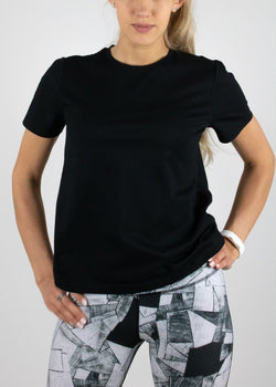 Perfect Little Black Tee with short sleeves from Susimust SS19 collection - front view