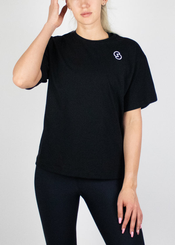 Throw on Anything Tee in Black