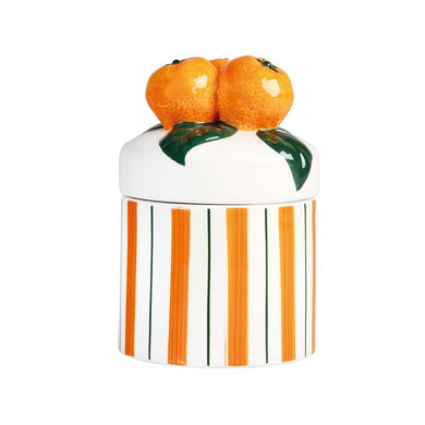 Orange Storage Jar - Small