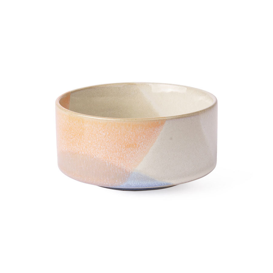 Ceramic Bowl - Blue/Peach
