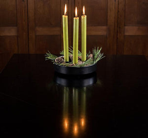 British Colour Standard Dinner Candle Pack of 6 - Olive Green