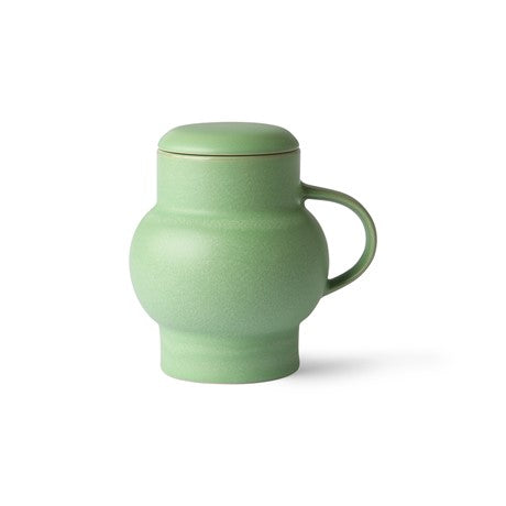 Green Ceramic Bubble Mug