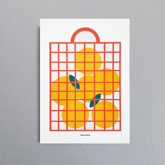 A3 Clementines Riso Print