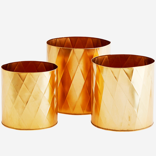 Gold Pots - Harlequin pattern
