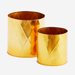 Small gold pots - Harlequin pattern