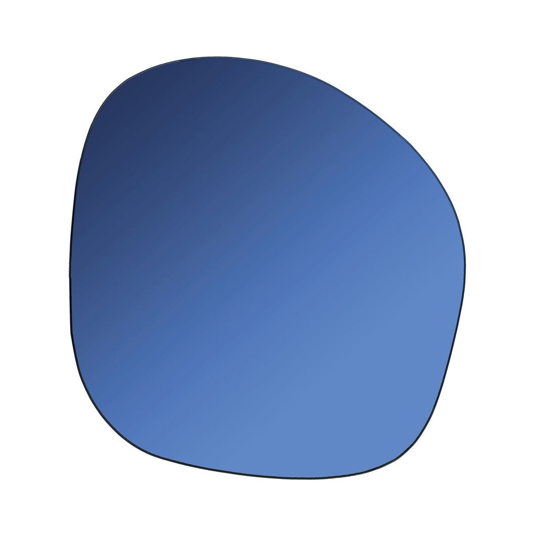 Irregular shaped Mirror - Blue