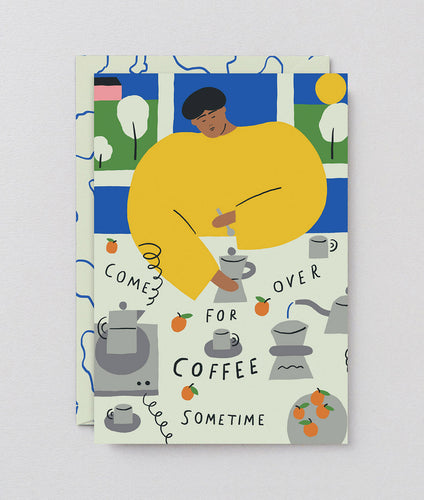 Come Over for Coffee Card