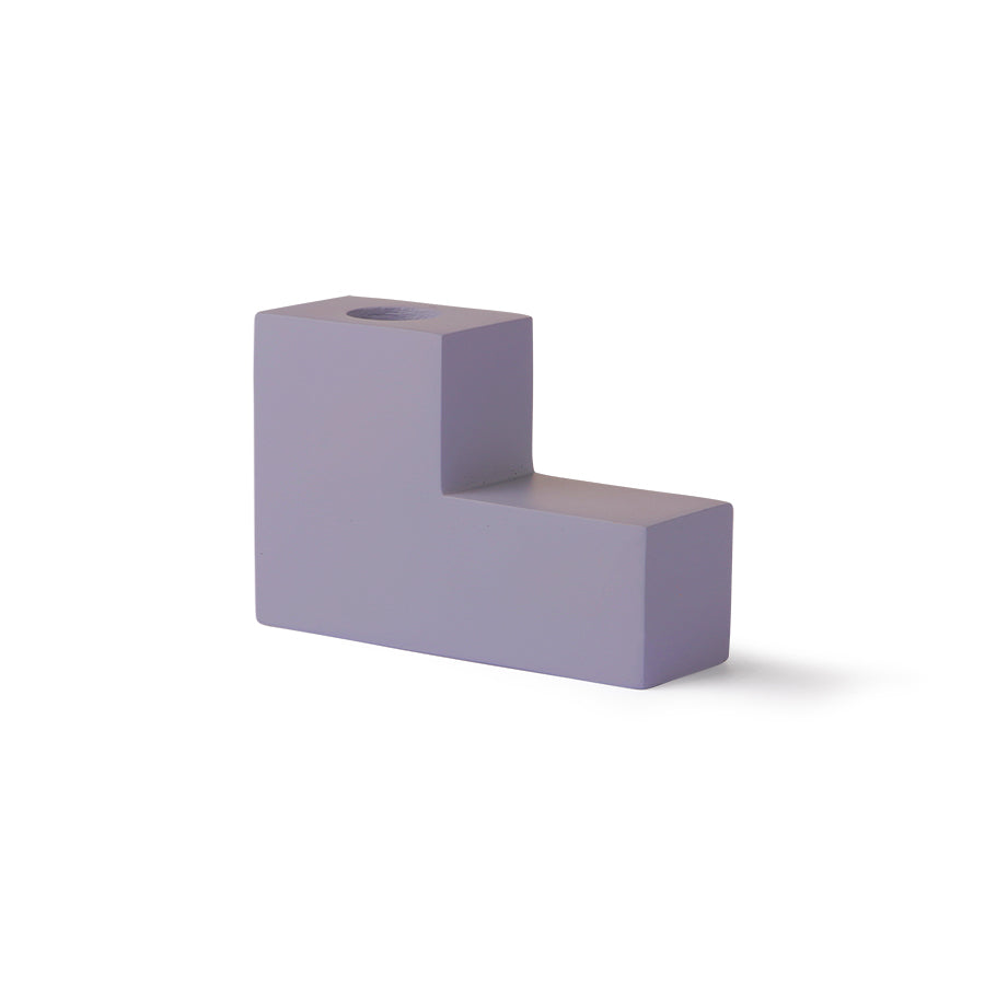 Candle Holder - Lilac Concrete Stairs