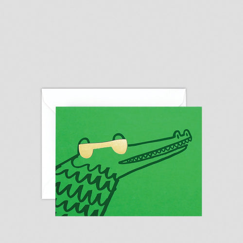 Croc with Shades Greeting Card