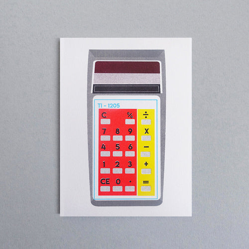 Red/Yellow Calculator Card