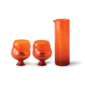 Orange Glassware Set