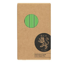 Load image into Gallery viewer, British Colour Standard Dinner Candle Pack of 6 - Grass Green