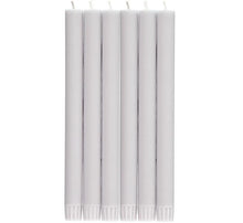 Load image into Gallery viewer, BRITISH COLOUR STANDARD - Gull Grey Eco Dinner Candles, 6 per pack