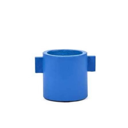 Blue Pot with Ears - Small