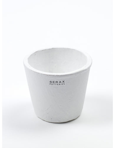 White Hand Painted Pot by Serax - Small