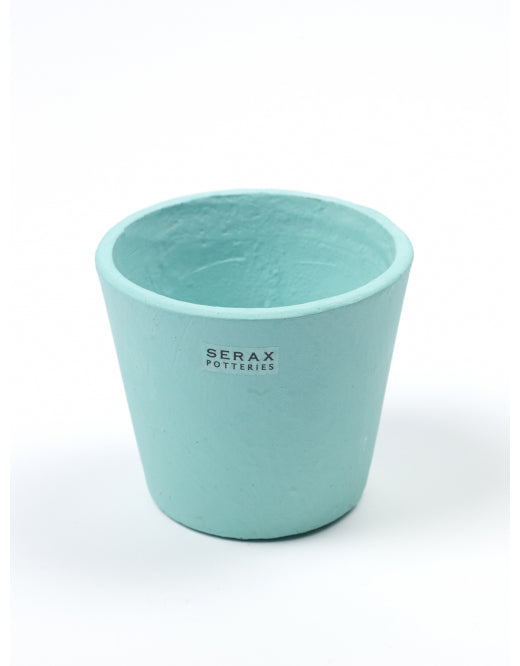 Turquoise Coloured Hand Painted Pot by Serax - Small