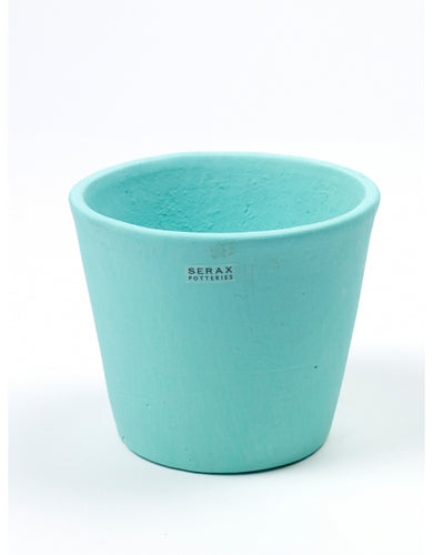 Turquoise Hand Painted Pot by Serax - Medium